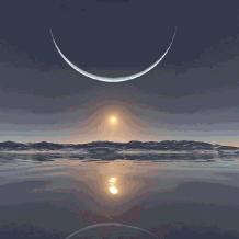 Fogyó Hold a felemelkedés része vagy egésze